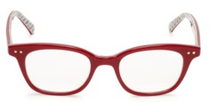 red kate spade readers... with book print on  the inside!