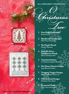 O Christmas Tree from the Christmas Ornaments 2015 issue of Just CrossStitch Magazine. Order a digital copy here: https://www.anniescatalog.com/detail.html?prod_id=127192