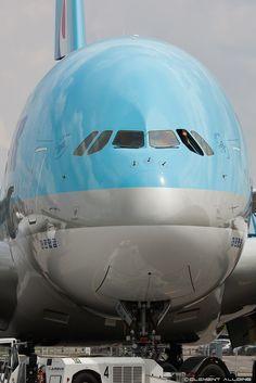"""a380flightdeck: """"Korean Air Lines Airbus A380-861 HL-7627 (cn 130). """""""