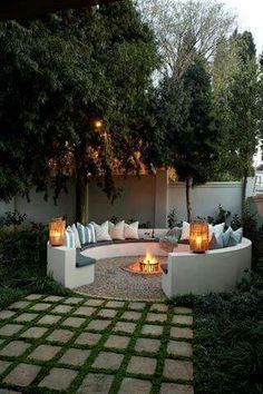 Did you want make backyard looks awesome with patio? e can use the patio to relax with family other than in the family room. Here we present 40 cool Patio Backyard ideas for you. Hope you inspiring & enjoy it . Backyard Patio, Backyard Landscaping, Landscaping Ideas, Backyard Seating, Sloped Backyard, Inexpensive Landscaping, Cool Backyard Ideas, Fire Pit Seating, Modern Backyard