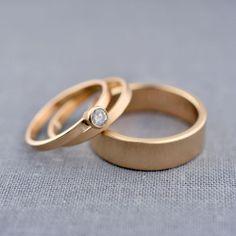 Complete Petite Diamond Wedding Ring Set — LilyEmme Jewelry