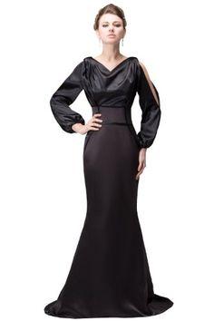 Herafa Long sleeve Mermaid Evening Gowns Sweep Length Train Black Size:2 herafa,http://www.amazon.com/dp/B00BQ2TBFG/ref=cm_sw_r_pi_dp_EAIesb1PVH07AA47