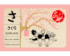 "Abécédaire japonais Madame Mo ""Sakura"""