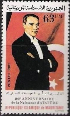 Mauratania Stamp for Ataturk's birthday Ataturk Quotes, Max Huber, National Movement, Postage Stamp Art, Lisa, Asian History, Stamp Collecting, Monochrome Pattern, Revolutionaries