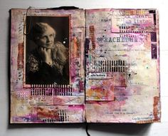 journal pages by Agnieszka - Anna, using stamps from 3rd Eye