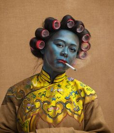 Photographer Joe Giacomet has created this new series of images parodying Vladimir Tretchikoff's famous painting Chinese Girl.