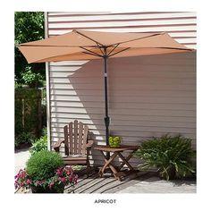 9u0027 Colorfast Tilting Patio Half Umbrella   Assorted Colors At 40% Savings  Off Retail