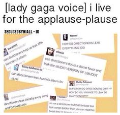 "It's bad we leak so many songs, but at the same time... ""I live for the applause 'plause"""
