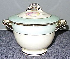 Hlc Pearl China Pastel Tulip Sugar Bowl