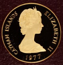 Cayman Islands: Elizabeth II four-piece gold Queen's partial Collection 1977,... (Total: 4 coins)