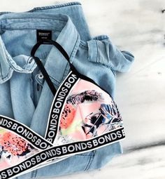 bonds bralette + chambray shirt