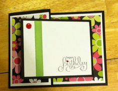 Beautiful joy fold card made with a few Stampin' Up materials. Colors can be changed if needed to better suit your needs. Joy Fold Card, Fun Fold Cards, Folded Cards, Birthday Cards, Happy Birthday, Card Tags, Handmade Cards, Handmade Gifts, Cardmaking