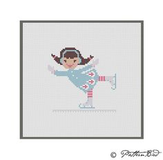 A Little Girl Ice Skating. Instant Download PDF by PatternBird, $4.00