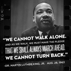 We cannot turn back.
