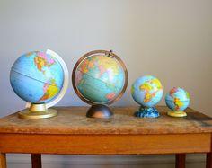 Vintage 1960s Tin Globe Bank  J Chein Co by TheFancyLamb on Etsy