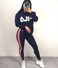 Outfi – Outfit Inspiration & Ideas for All Occasions Cute Swag Outfits, Chill Outfits, Sporty Outfits, Nike Outfits, Trendy Outfits, Reebook Outfit, Fila Outfit, Winter Fashion Outfits, Cute Fashion