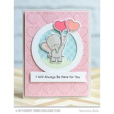 I created a bonus card for MFT Sketch 258 using the super cute new set by Birdie Brown Adorable Elephants! You still have 24 hours to play along! #mftstamps #dienamics #birdiebrown