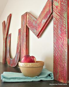 Beyond The Picket Fence: YUM!  How To Make Vintage Inspired Letters