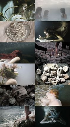 Photography fantasy magic sirens 59 new ideas Water Witch, Sea Witch, Witch Aesthetic, Aesthetic Collage, Dark Mermaid, Mermaid Cave, Siren Mermaid, Foto Fantasy, Merfolk