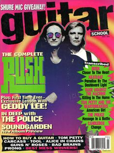 Guitar School Magazine - March 1994 - Rush: Back to the Future