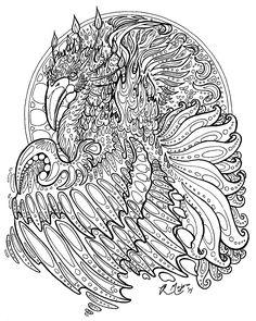 rachelm05 | drachen | ausmalen, ausmalbilder und malvorlagen