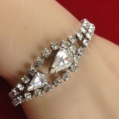 I'm auctioning 'Vintage Rhinestone Bracelet MVS1008 |We combine shipping|No Question Refunds|Bid over $60 for free shipping' on #tophatter