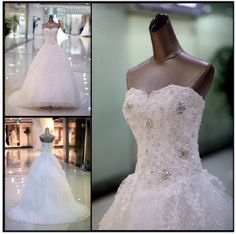 Stacy - Bridal Dress Wedding Gown Marriage Matrimony Wedlock $650 via @Shopseen