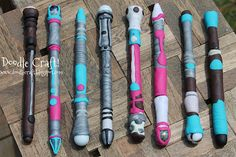 Doctor Who Sonic Screwdriver DIY!  Make your own custom sonic pens!