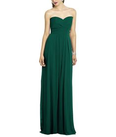 CK: I like this color  // DescriptionAfter Six Style 6669Fulllength bridesmaid dressStrapless sweetheart necklinePleated waistband at empire waistLux chiffon