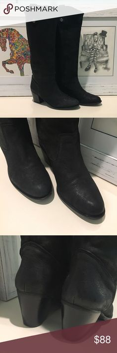Vince Camuto boots In beautiful condition.  Only worn for about 2 hours!  Super soft leather.  Please ask if u have any questions. Vince Camuto Shoes Heeled Boots