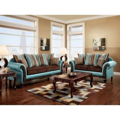 Furniture of America Gilcrease 2 Piece Sofa Set - IDF-7610-2PC, Durable