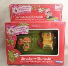 Vintage Very Rare Strawberry Shortcake Deluxe Mini With Custard Reading In Box