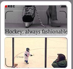Girls play hockey too! #toughandpretty #hockey #girlshockey