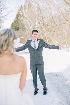 Tyler seeing His bride for the first time. #bride #groom #wedding #photography #first look