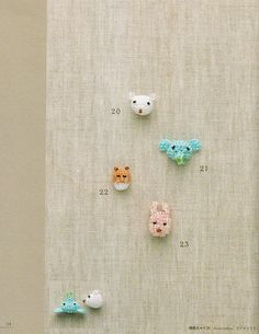100 Crochet Patterns  Beadswork mini motif pattern  Japanese