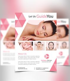 Beauty & Spa Flyer by themexriver on Creative Market