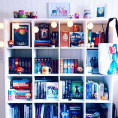 """it's been a while since i showed my bedroom bookshelf. so here's a #shelfie ❤️…"