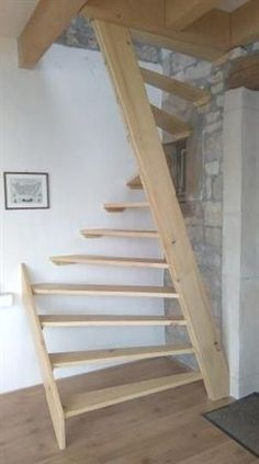 60 Trendy Ideas For Attic Stairs Ideas Stairways Space Saving Attic Stairs, Garage Stairs, Pallet Stairs, Tiny House Stairs, Attic Ladder, Attic Loft, Staircase Design, Staircase Ideas, Hallway Ideas