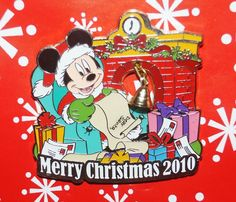 Disney Pin MICKEY Merry Christmas 2010 Door Hanger set Mickey Only BB