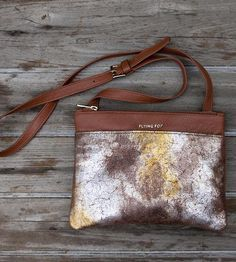 Hannah Metallic & Tan Crossbody Bag by Flying Fox on Scoutmob Shoppe