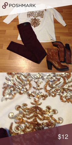 Zara sweater decorated with sequin and Jeans Zara sweater and jean buy the outfit for 25 Zara Other