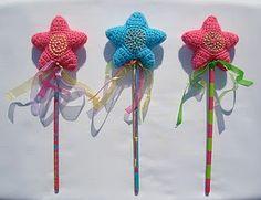 crochet  princess/fairy wands