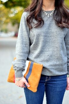 Cute color combination, comfy sweater.