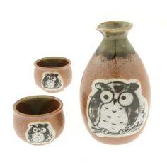 Owl Sake Set