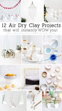 12 Easy Air Dry Clay Projects and Crafts that will instantly wow you! Delineate Your Dwelling