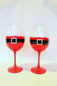 Painted WIne Glass by Brushes With a View