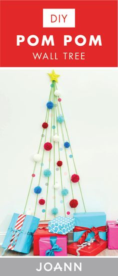 Who says decorating for the holidays has to be hard?! Have some fun with it by checking out this craft tutorial for a DIY Pom Pom Wall Tree from JOANN! Even if you don't have space for a full evergreen, this creative project makes it easy to celebrate this season.