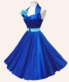i SO would wear this 1950s Style Satin Swing Dress