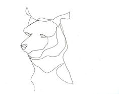 drawing with one continuous line | Noisy Dog Studio — Dog 1 Continuous Line Drawing