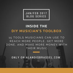 Musicians don't have to be confused by technology. The DIY Musician's Toolbox helps musician's focus on their music. http://alandisbrassel.com/diy-music-toolbox?utm_campaign=coschedule&utm_source=pinterest&utm_medium=BeingAKB&utm_content=DIY%20Musician%27s%20Toolbox%20Opt-in